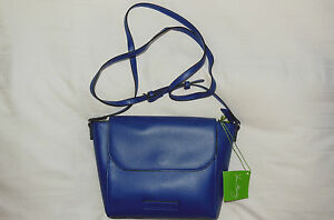 NWT Vera Bradley Faux Leather FLAP CROSSBODY in COBALT purse 14320-474