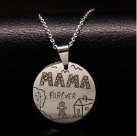 Halskette Mama Forever Edelstahl Geschenk für Mama Mutter Muttertag Familie