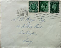 Envelope Posted from Sutton to Wallington June 1939 with 3 x ½ D Stamps