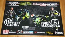 2014 Celtic Racing Suzuki GSX-R600 signed Supersport AMA poster Farris Alexander