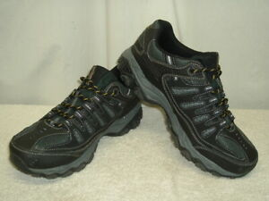 Skechers After Burn Memory Fit Black Athletic Shoes Men's Size 12 Wide 50125EWW