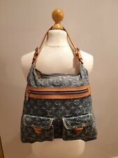 AUTHENTIC LOUIS VUITTON DENIM MONOGRAM SHOULDER BAG IMMACULATE CONDITION.