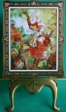 DISNEY PARK TINKERBELL AUTUMN BREEZE LE 403/500 FRAMED ART WITH STAND COA NEW