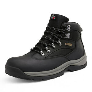 NORTIV 8 Men's Steel Toe Work Boots Safety  Construction Combat Work Shoes Size