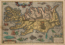 A3 Print - Viking Map of Iceland Islandia (Nordic Picture Asgaror Warrior Odin)