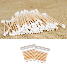 100pcs Makeup Cotton Swab Double Head Cotton Buds Wood Sticks Ears Cleaning Tool