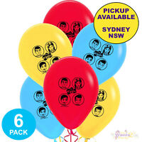 THE WIGGLES PARTY SUPPLIES 6 LATEX BALLOONS BIRTHDAY DECORATIONS