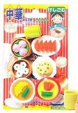 Set of 10 Iwako Japanese Chinese Foods Eraser Set Kid Toy Stationery S-1835x10
