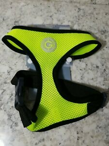 NEW GOOBY EASY FIT ESCAPE FREE DOG HARNESS, YELLOW & BLACK SIZE SMALL