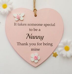 It takes someone special to be a Nanny handmade wooden heart gift plaque