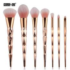 7 шт., набор кистей для макияжа пудра-основа теней для век румяна косметический щетки инструмент