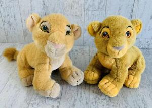 Vintage Disney Store The Lion King Plush Simba and Nala Stuffed Animal Toy Lot Z