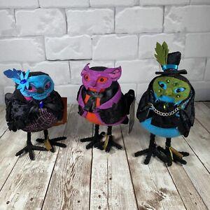 Lot 3 2018 Target Hide and Eek Birds Halloween Sapphire Peridot Amethyst 2 NWT
