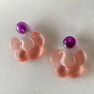 925 Silver Boho Resin Geometric Dangle Earrings Stud Women Party Jewelry Gifts
