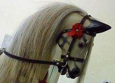 BEST Quality Rocking Horse Leather Nail on Bridle with Reins & Bit - S, M, L
