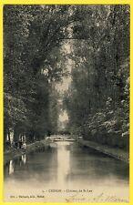 cpa 77 - CESSON (Seine et Marne) CHÂTEAU de SAINT LEU Canal Pont Animée