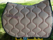 LETTIA UNION HILL COOL MAX ENGLISH DRESSAGE SADDLE PAD HORSE PINK/NAVY/GREY