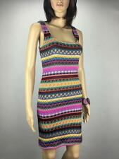 ** DOTTI ** Size 6 Multi Colour Womens Knit Occasion Party Bodycon Dress -(A245)