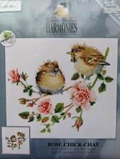 Valerie Pfeiffer Harmonies ROSE CHICK-CHAT Birds Cross Stitch Chart