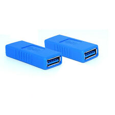 Blue USB 3.0 Type A Female to Female Adapter Coupler Gender Changer Connector