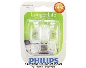 NEW Philips Philips 7440LLB2 Auto 2-Pack 7440LLB2 12V Bulb