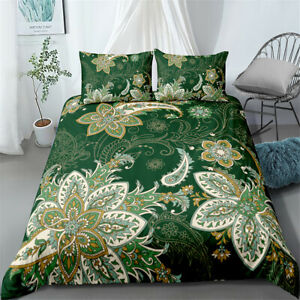 BOHO Floral Twin/Full/Queen/King Bed Duvet Cover Set Bedding Set Pillowcase