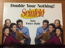 2001 MAX RACKS ADVERTISING POSTCARD DOUBLE YOUR NOTHING SEINFELD NYC