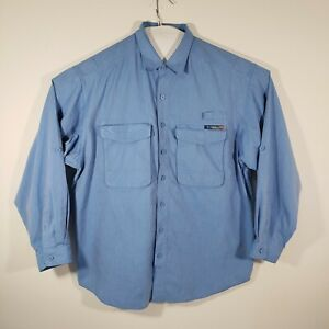 EXOFFICIO Adventure Travel Men's Shirt Long Sleeve Cotton Blend Size 2XL Vented