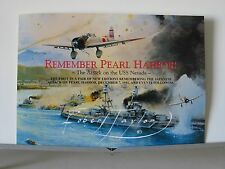 Remember Pearl Harbor USS Nevada 7 Dec 1941 Robert Taylor Aviation Art Brochure