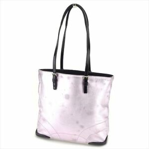 Prada Tote bag Purple Black leather Woman Authentic Used E1268