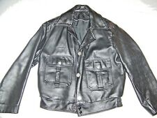 DEAN'S CREW POLICE LEATHER MOTORCYCLE JACKET SZ.36 MILWAUKEE WI USA