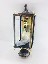 Progress Lighting Gilded Black Mosaic Pattern Amber Glass Antique VintageNOS