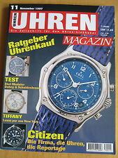 Uhren-Magazin Nr. 11 1997 - Uhren Zeitschrift, Uhrenheft, Magazin