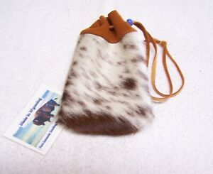 HAND MADE COW HIDE COIN  POUCH RENDEZVOUS BLACK POWDER MOUNTAIN MAN  01