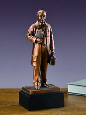 "Medical Doctor 4.5"" x 12"" Beautiful Bronze Statue / Sculpture Brand New"