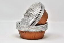 130 x Copper Pukka pie/quiche Foil Dishes Round 110/33mm
