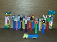 Lot of 19 Pez dispensers Disney, Looney Tunes, Muppets, Snoopy, Holiday, Truck