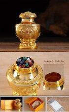 "5"" Tibetan Buddhism Altar Must! Gold Holy Bottle Wish Fulfillment Treasure Pot -"