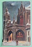 DOL CATHEORAL Raphael tuck Oilette picture postcards MONUMENT ARTIST SIGNED