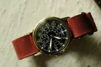 POBEDA ZIM Russian Military Wristwatches USSR Leather strap