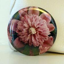 Fiore POCKET Specchio Con Sacchetto Organza Regalo Rosa CLEMATIS Makeup BORSETTA ORIGINALE