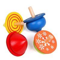 4Pcs / Set Bunt Holz Kreisel Gyro Bildungs Außen  Spielzeug Neu Bkj eNwrg N @DE