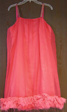 Hot Pink ~ Spagetti Strap Flapper Style Dress with Bottom Ruffles~Handmade M/L