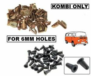 VW BUS KOMBI BAYWINDOW 1968-1979 DOOR CARD CLIPS & BOOTS SET 100PCS CORRECT SIZE