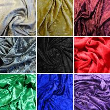 10m Rolls Crushed Velvet Fabric - Great Bulk Buy Saving - 10+ Colours Available