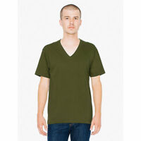 AMERICAN APPAREL V NECK T-SHIRT 2456 100% Ring Spun Cotton 15 COLORS XS-XXL