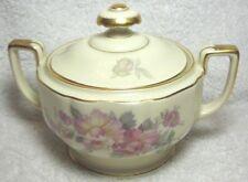 Vintage Heinrich H & C Selb Bavaria Sugar Bowl, Gold edges, Great Condition