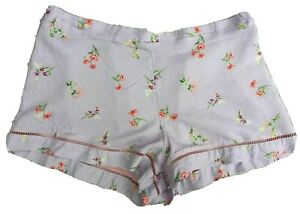 Womens Lilac floral Cami Lounge Pyjama shorts Sizes  8, 10, 12, 14,  24