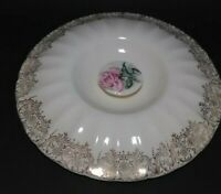 soup tureen LID ~ Limoges American Le Fleur Rouge? Pink Rose / Gold Replacement