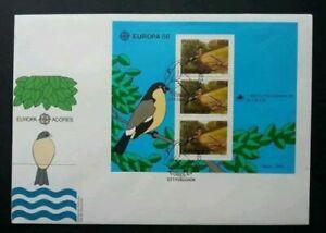 [SJ] Portugal Birds 1986 Animal Wildlife Nature (miniature FDC)
